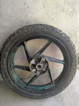 Pulser 150 back tyre and alloy