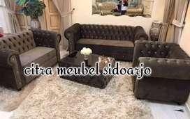 SOFA MEWAH CHESTERFIELED BROWN SDA
