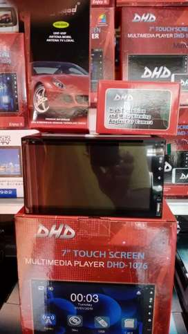 Double din DHD layar Full Glass+Antena+Camera+Psang