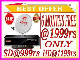 Bumper Offer}New Dth@999rs Only.Airtel,TataSky,Dish Tv}2 Hour Service