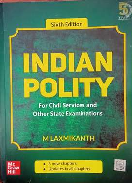 Indian Polity 6 th edition (Unused New book) For 500 Rupees