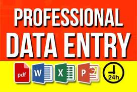 Data entry and administrative jobs