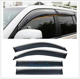 All cars door visor with chrome bidding