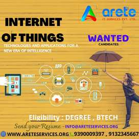IoT Training and Placements for B. tech Graduates in Vijayawada