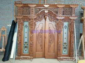 Pintu kusen gebyok kayu jati mdan