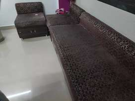 Queen size sofa with two chairs