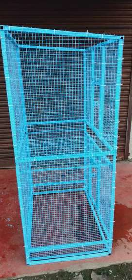 Cage for cat and love birds