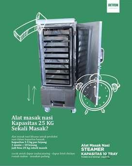 mesin steamer makanan, nasi roti kukus brownies dimsum di Padang