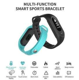 Jam Tangan LED Gelang Fitness Tracker Hitam