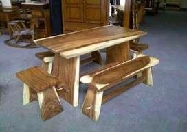 Meja kursi makan blok