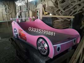 Pink Car Bed and Red and Blue colour