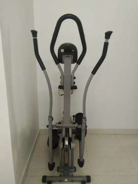 Eliptical cycle and abs workout machine