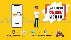 Tirupati Rapido Is hiring for Food Delivery and bike taxi riders