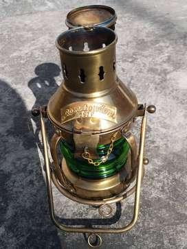 Antique Lamp Brass Rose London Navy 1915