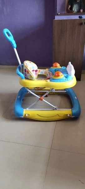 Babyhug Mini Steps Walker Cum Rocker With Parent Push Handle