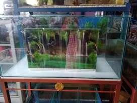 Aquarium Akuarium ukuran 80x40x40 kaca full 6mm