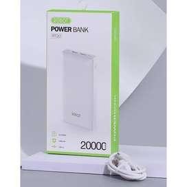 Powerbank ROBOT RT20 20000mAh Dual Input Output Power Bank 20000 mAh