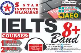 IELTS 7+ Band with 5 STAR INSTITUTE, Best IELTS Preparation Islamabad