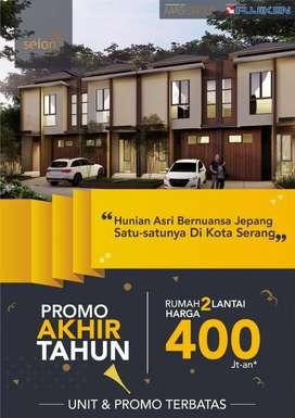 PROMO AKHIR TAHUN RUMAH 2 LANTAI 400 JUTAAN    SEION SERANG