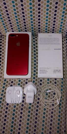 IPHONE 7plus+ 128GB RED PRODUCT AWESOME CONDITION