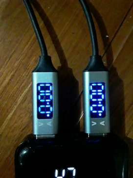 《BARU-》 TOPK Kabel Type C 3.0 Voltage Current Display Data Sync