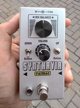 Efek Gitar Fatmac Synthavia (Fuzz synth Octave up Octave down)