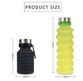 Botol spiral silicon panjang lipat. Grosir