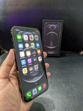 IPHONE 12 PRO 128Gb Warna GRAPHITE FULLSET LIKE NEW