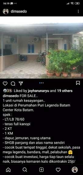 kontrakan rumah batam center puri legenda
