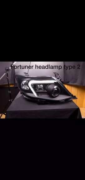 Fortuner headlight head light headlamp head lamp