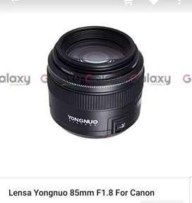 Dicari lensa yongnuo 85mm f1.8  second area bali