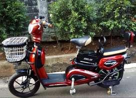 Sepeda Listrik Murai Merah Maroon.Remote,Alarm anti maling.GooD