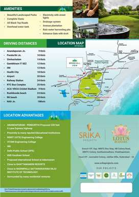 Gated community Villa Plots at Anandapuram