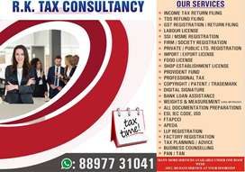 FIRM REGISTRATION, GST COMPLIANCE, ITR FILING AND COMPUTATION, TRADE