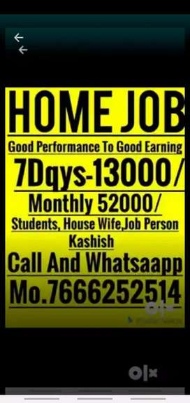 Part time home based job available here weekly 10000rs