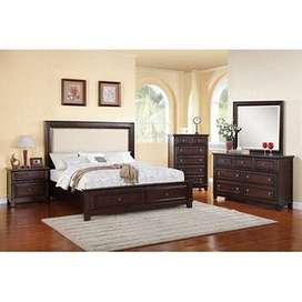 Brand new sheesham solid wooden storage double bed