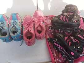 3 sepatu roda anak layak pakai