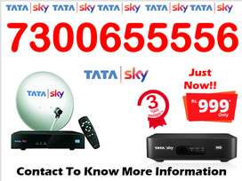 tata sky HD box 6 month free Only-999/- tatasky & airtel tv