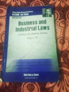 Business and industrial laws paper lll b. Com l st year