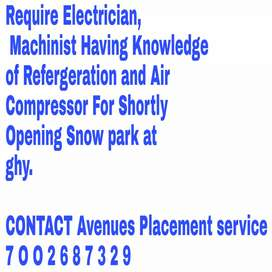 Require Staff for Snow  theme Amusementpark at ghy, lokhra
