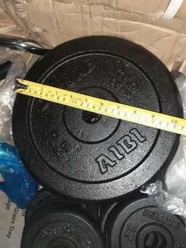 Barbell set tipe ez atau dumbell set tipe zigzag beban 27kg import