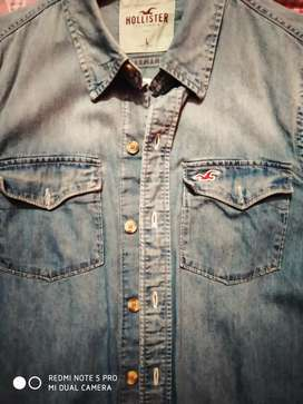 Hollister denim shirt branded