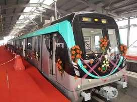Metro station job in Noida.