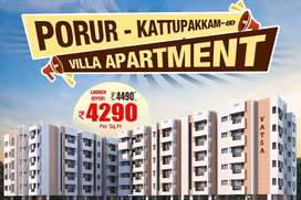 889 Sq Ft 2 BHK Bedroom Flats for Sale in Porur, Chennai West
