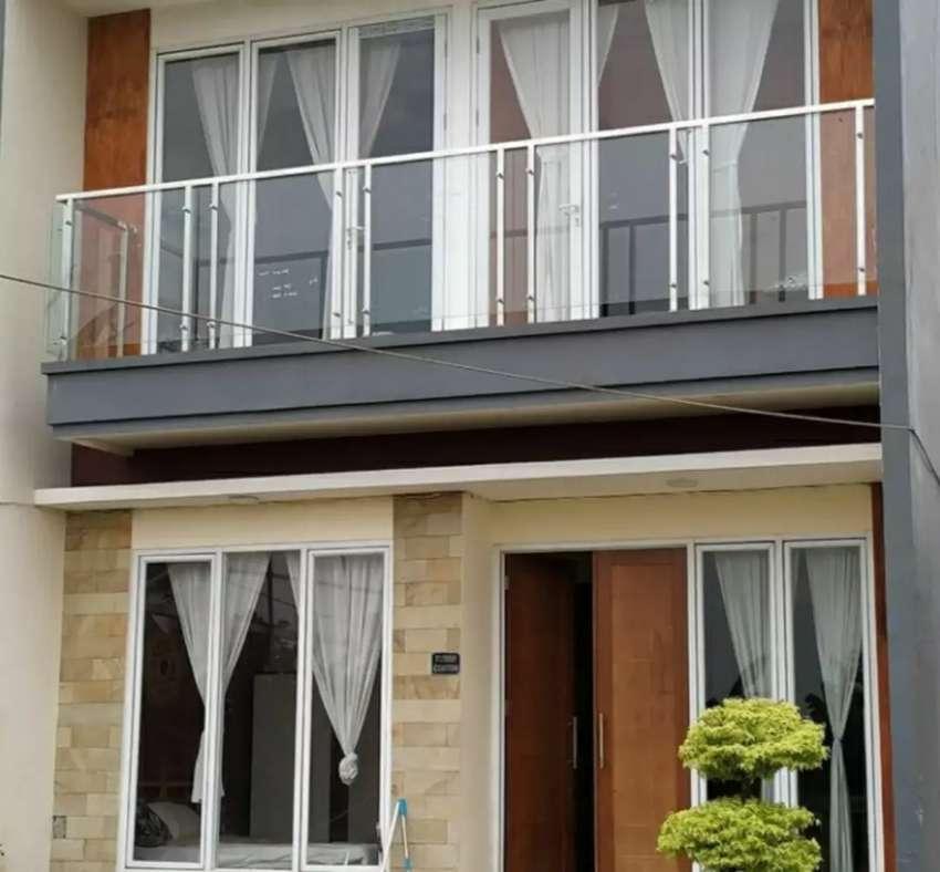 Balkon kaca stainless dan railing tangga kaca #1758