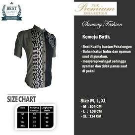 AM0068 Harga Promo COD Baju Kemeja Batik cowok Pria Kualitas terjamin