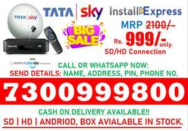 New DTH Connection SD|HD|Andriod Tatasky Dishtv Airtel DTH Book Now !!
