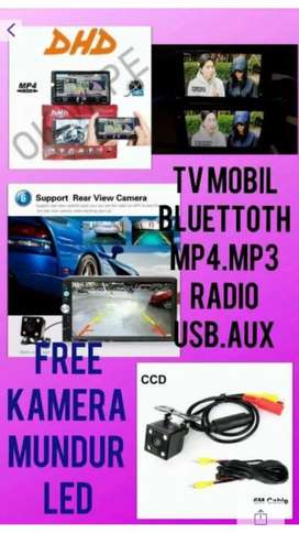 Paket Tv Mobil Mirror Link 7 Inci Free Kamera Mundur