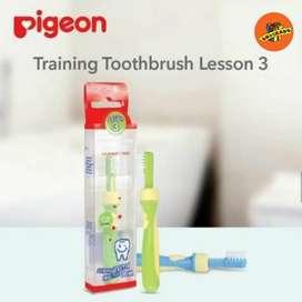 PIGEON BABY TRAINING TOOTHBRUSH LESSON 3 - Sikat Gigi Bayi