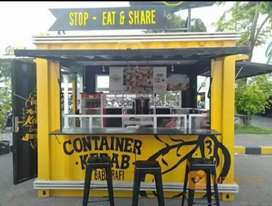 BOOTH RESTO. CONTAINER BOX JUALAN. BOOTH KEDAI